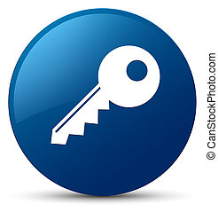 Key icon blue round button