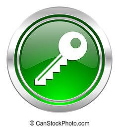 key icon, green button
