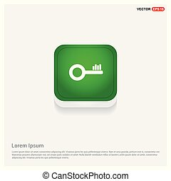 Key Icon Green Web Button