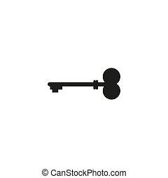 Key icon in trendy flat style isolated on background. Key icon page symbol for your web site design Key icon logo, app, UI. Key icon Vector illustration,
