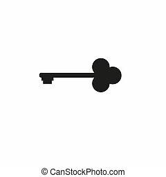 Key icon in trendy flat style isolated on background. Key icon page symbol for your web site design Key icon logo, app, UI. Key icon illustration,
