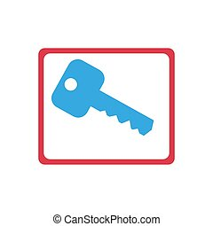 Key Icon in trendy flat style isolated on white background. Key symbol for your web site design, logo, app, UI. Vector illustration, EPS 10