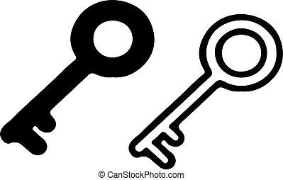 key icon isolated on white background