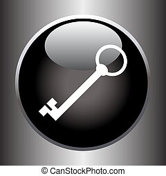 Key icon on black button