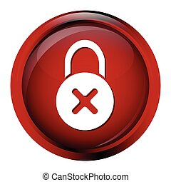 Key icon on red button