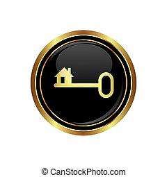 Key icon on the black