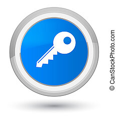 Key icon prime cyan blue round button