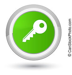 Key icon prime soft green round button