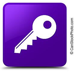 Key icon purple square button