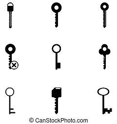 key icon set