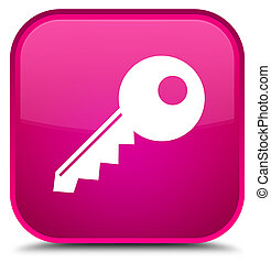 Key icon special pink square button