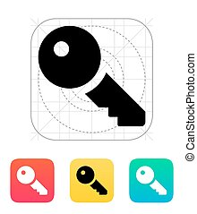 Key icon. Vector illustration.