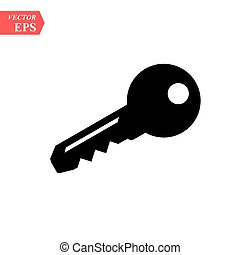 key icon vector in trendy flat style isolated on white background eps 10