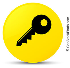 Key icon yellow round button