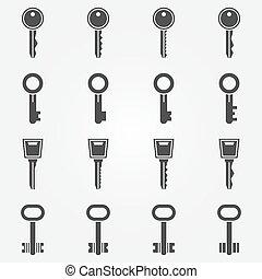 Key icons set