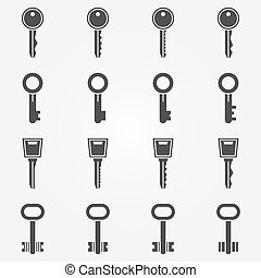 Key icons set