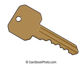 Key Illustration - an illustration of a key