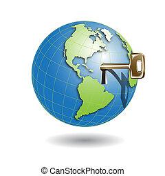 key in globe