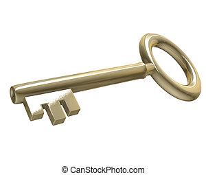 key in gold (3d)