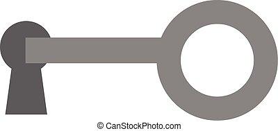 Key in keyhole