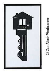 key in the shape of a house