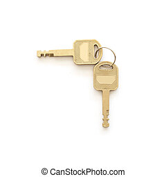 Key isolated on white background