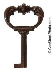 Key, isolated on white background
