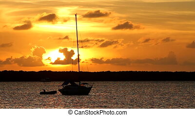Key Largo Sunset Sailboat