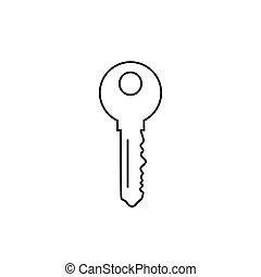 Key line icon symbol on white background editable. Vector