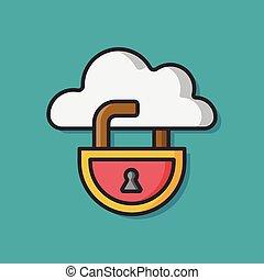 key lock vector icon