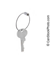 key on a white background