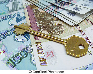key on background from money