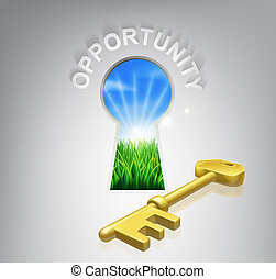 Key Opportunity Concept - Key to opportunity conceptual...