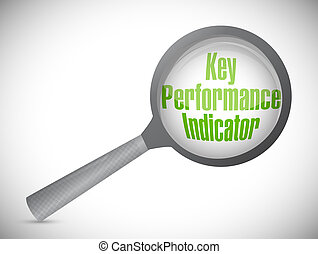 key performance indicator magnify glass illustration design...