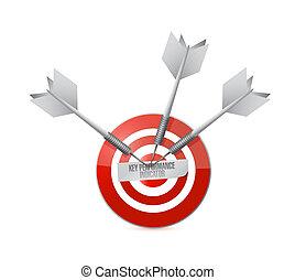 key performance indicator target illustration design over a...