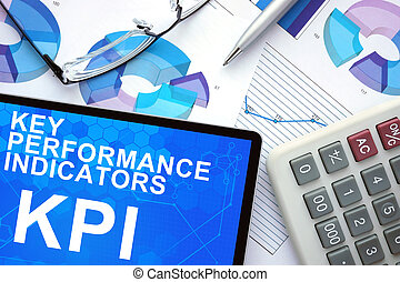 Key Performance Indicators, KPI - Tablet with Key ...