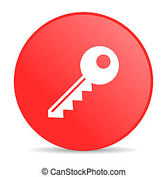 key red circle web glossy icon