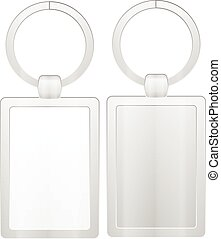 Key ring on a white background.