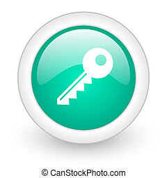 key round glossy web icon on white background