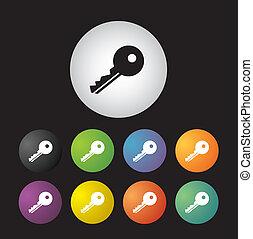 key symbol  button set