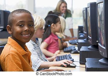 key), tanár, végek, számítógép, háttér, (depth, field/high, ...