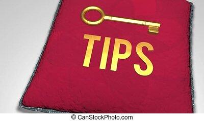 Key tips concept shot animation