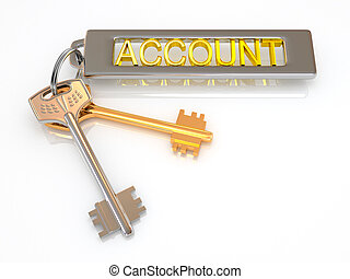 key to account. 3d