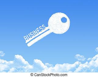 Key to business cloud shape