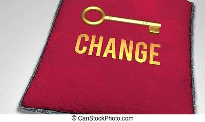 Key to change concept shot