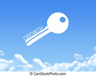 Key to Growth cloud shape