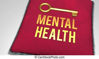 Key to mental health concept
