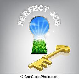 Key to perfect job