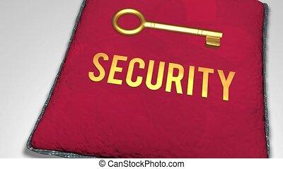 Key to security concept. - Key to security concept animation