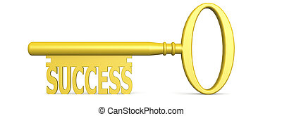 Key to success concept isolated